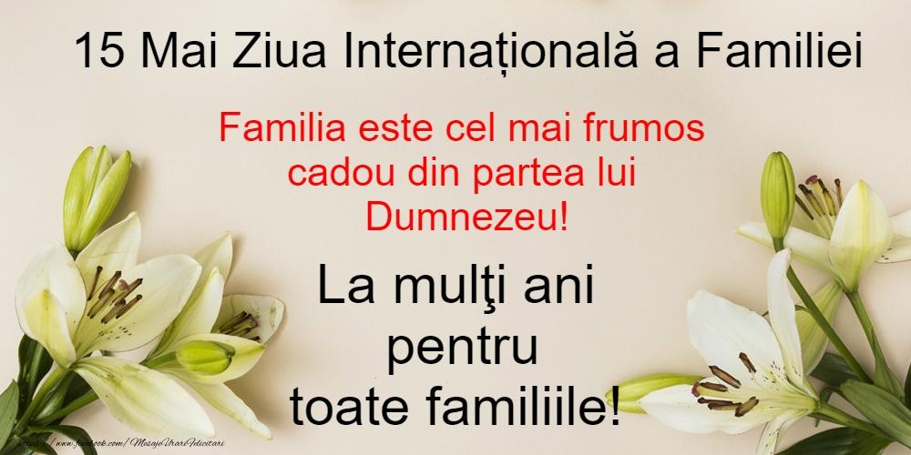 Ziua Familiei 15 Mai - Ziua Internațională a Familiei