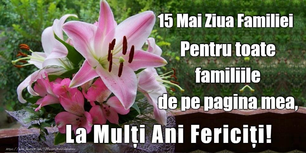 Cele mai apreciate felicitari de Ziua Familiei - La mulţi ani pentru toate familiile!