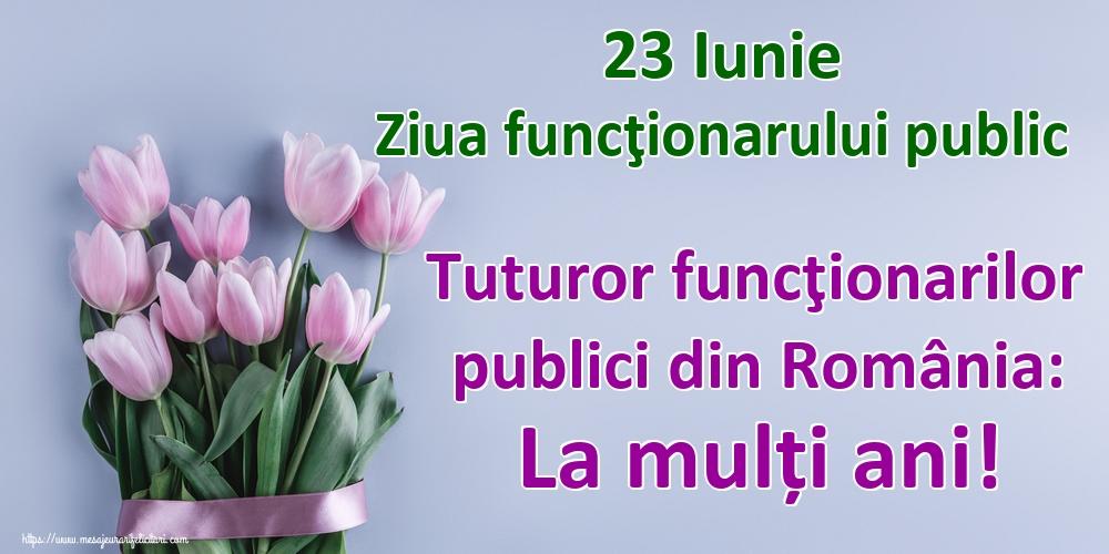 Felicitari de Ziua funcţionarului public - 23 Iunie Ziua funcţionarului public Tuturor funcţionarilor publici din România: La mulți ani!