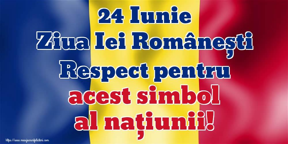 Felicitari de Ziua Universală a Iei - 24 Iunie Ziua Iei Românești Respect pentru acest simbol al naţiunii!