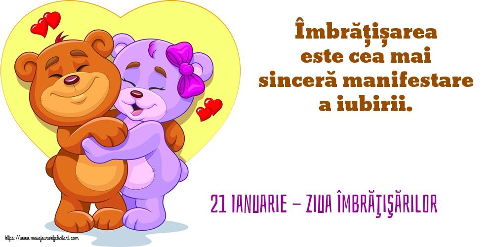 Felicitari de Ziua Imbratisarilor - 21 Ianuarie - Ziua Îmbrăţişărilor - mesajeurarifelicitari.com