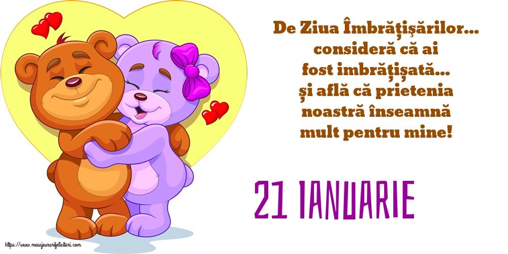 Felicitari de Ziua Imbratisarilor cu mesaje - 21 Ianuarie