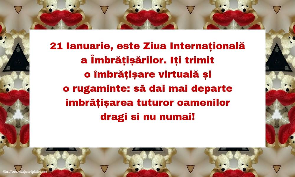 Felicitari de Ziua Imbratisarilor cu mesaje - 21 Ianuarie, este ziua internațională a îmbrățișărilor