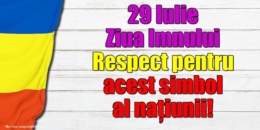 29 Iulie Ziua Imnului Respect pentru acest simbol al naţiunii!