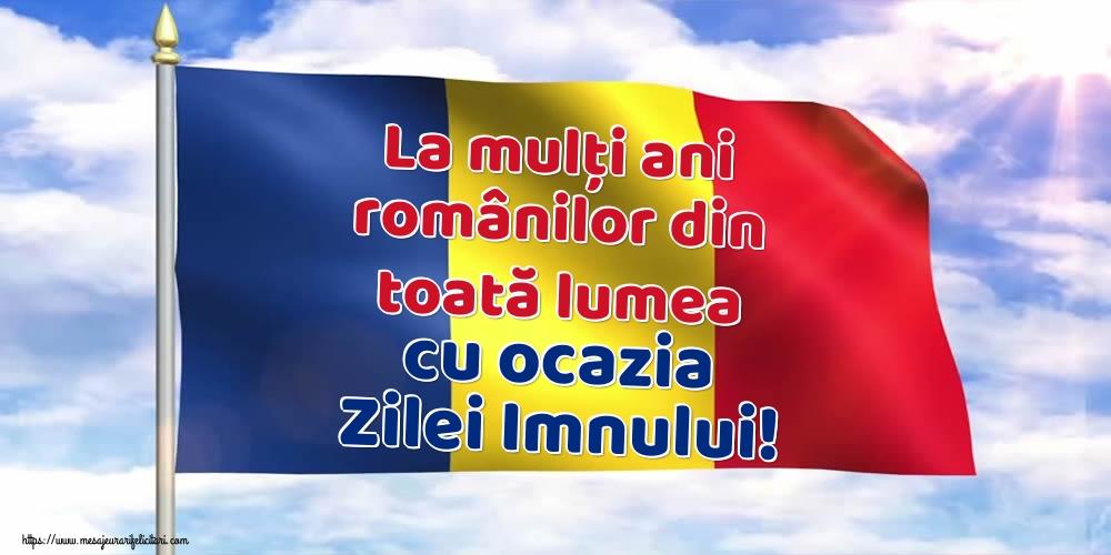 La mulți ani românilor din toată lumea cu ocazia Zilei Imnului!
