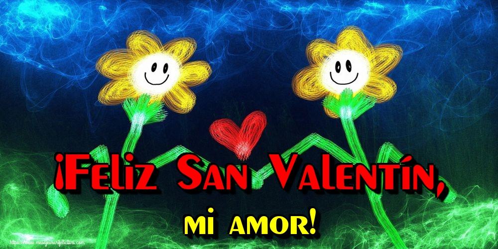 Felicitari Ziua indragostitilor in Spaniola - ¡Feliz San Valentín, mi amor!
