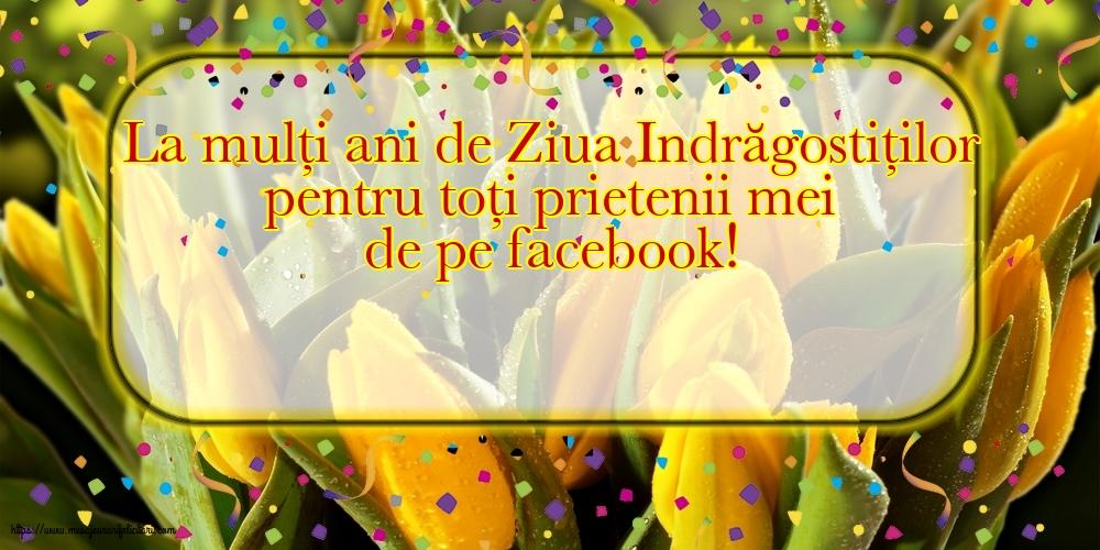 Felicitari Ziua indragostitilor - La mulți ani pentru toți prietenii mei de pe facebook!