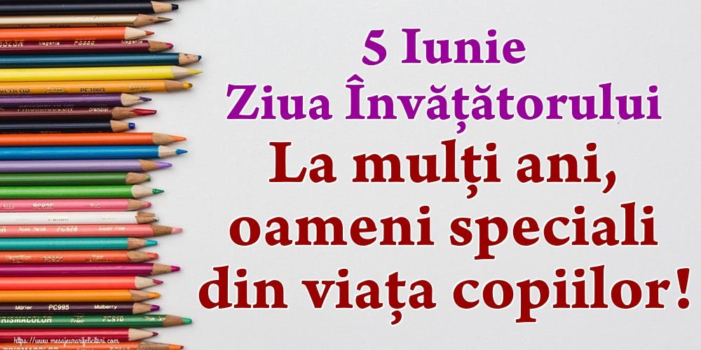 Ziua Învățătorului 5 Iunie Ziua Învățătorului La mulți ani, oameni speciali din viața copiilor!