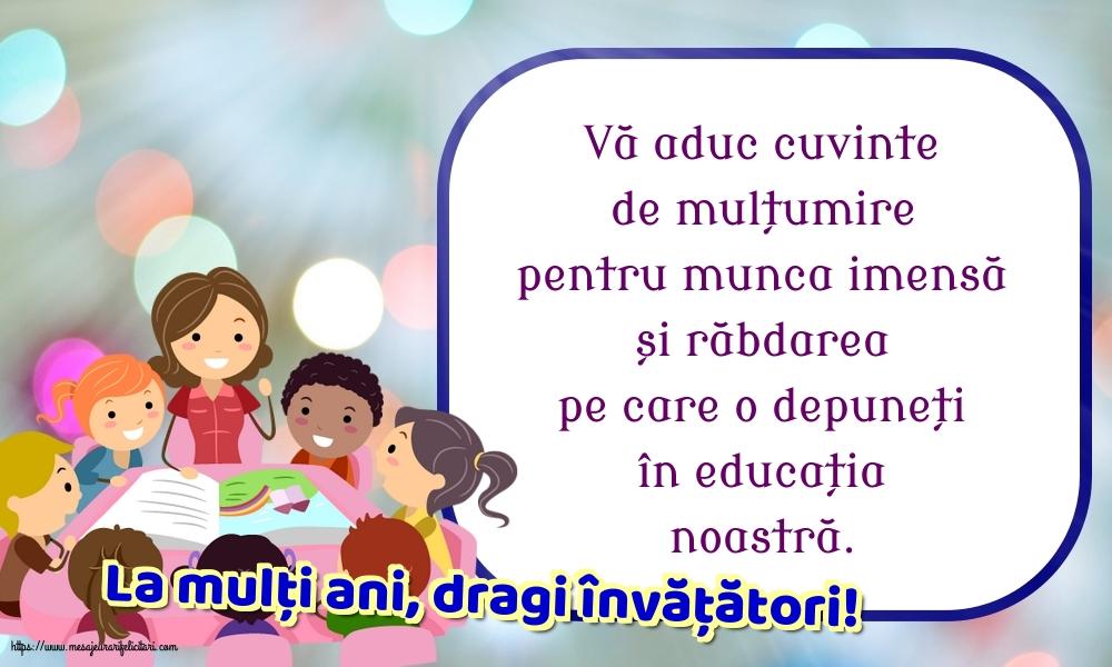 Felicitari de Ziua Învățătorului - La mulți ani, dragi învățători! - mesajeurarifelicitari.com