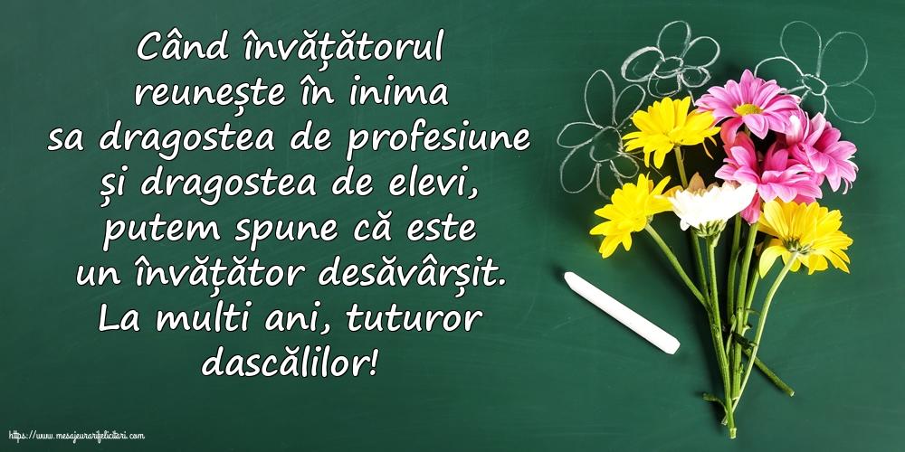 Felicitari de Ziua Învățătorului - La multi ani, tuturor dascălilor!