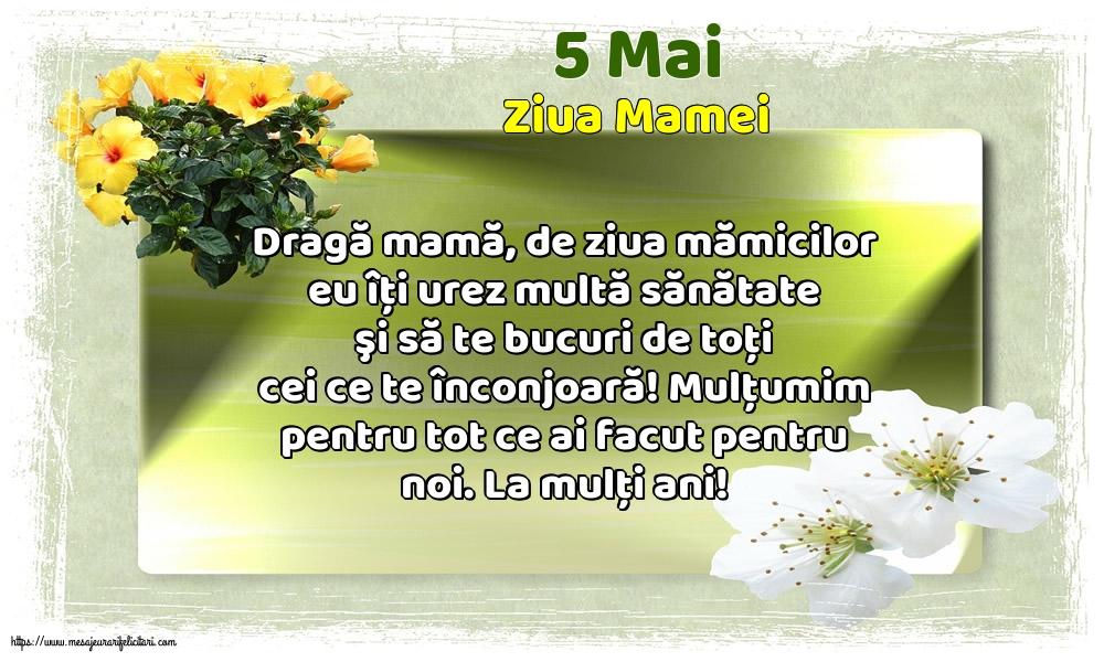 Felicitari de Ziua Mamei - 5 Mai - Ziua Mamei - mesajeurarifelicitari.com