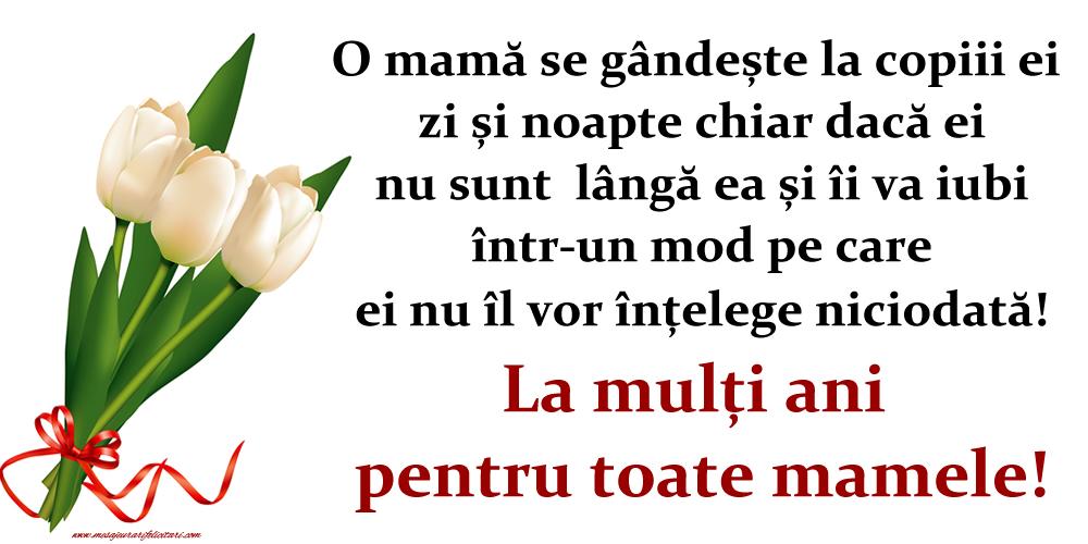 Felicitari de Ziua Mamei cu flori - La mulți ani pentru toate mamele!