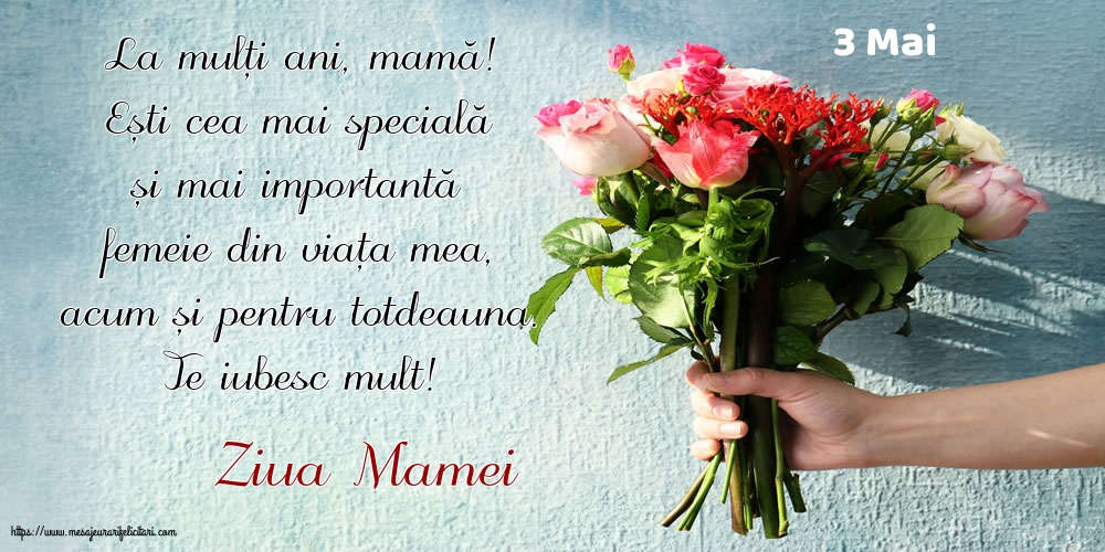 Felicitari de Ziua Mamei cu mesaje - 3 Mai - Ziua Mamei