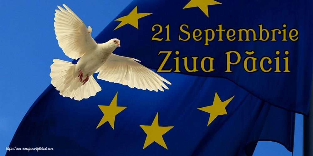 Felicitari de Ziua Internaţională a Păcii - 21 Septembrie Ziua Păcii