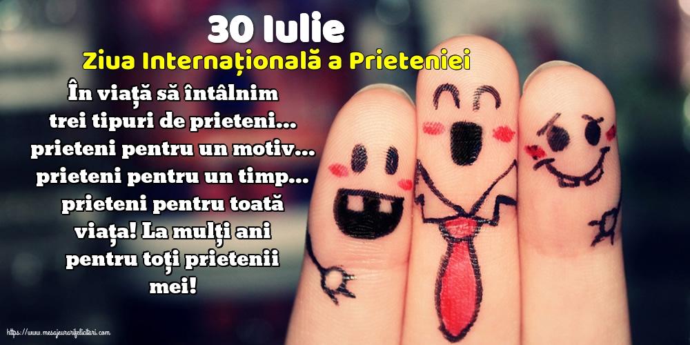 Ziua Internationala a Prieteniei 30 Iulie - Ziua Internațională a Prieteniei