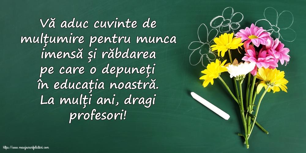 Felicitari de Ziua Profesorului cu mesaje - La mulți ani, dragi profesori!