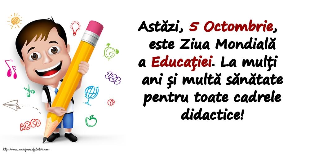 Felicitari de Ziua Profesorului cu mesaje - La mulți ani și multă sănătate pentru toate cadrele didactice!