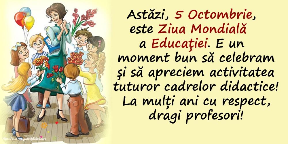 Felicitari de Ziua Profesorului cu mesaje - La mulți ani cu respect, dragi profesori!