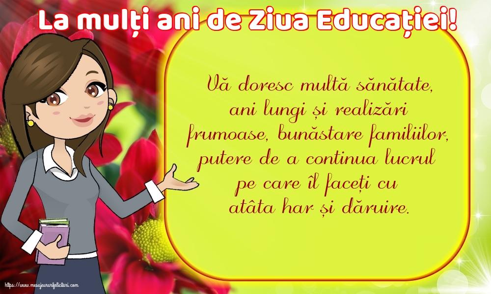 Felicitari de Ziua Profesorului cu mesaje - La mulți ani de Ziua Educației!