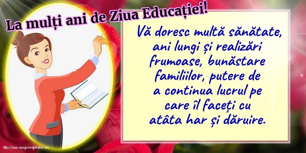 Felicitari de Ziua Profesorului - La mulți ani de Ziua Educației! - mesajeurarifelicitari.com