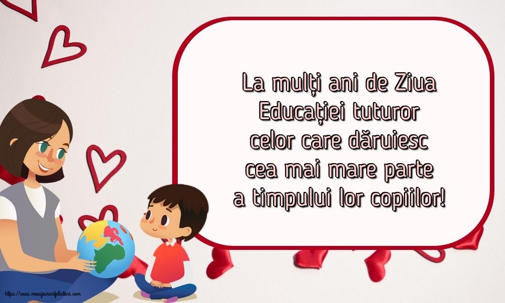 Felicitari de Ziua Profesorului - 5 Octombrie - Ziua Mondială a Educaţiei - mesajeurarifelicitari.com