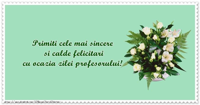 Felicitari de Ziua Profesorului - Primiti cele mai sincere si calde felicitari cu ocazia zilei profesorului! - mesajeurarifelicitari.com