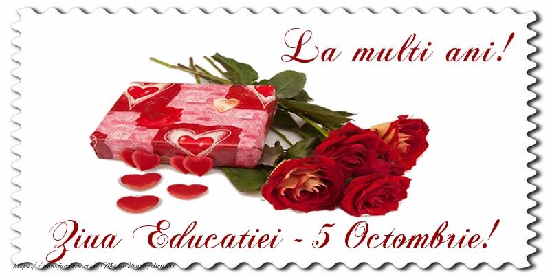 Felicitari de Ziua Profesorului - La multi ani! Ziua Educatiei - 5 Octombrie - mesajeurarifelicitari.com