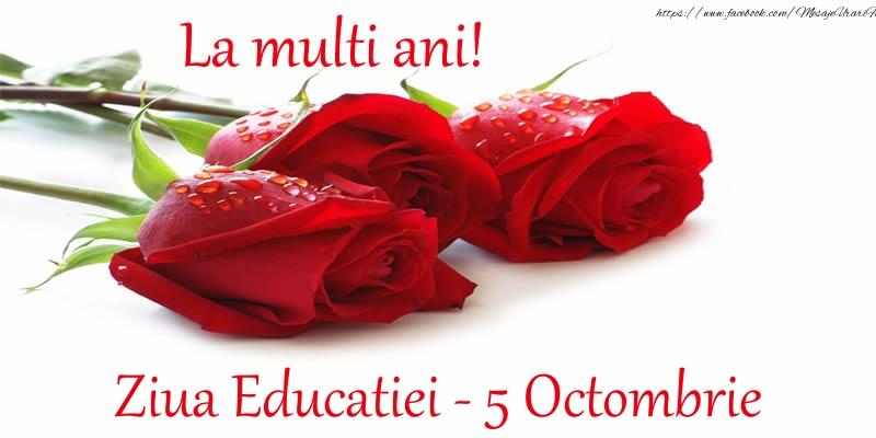 La multi ani! Ziua Educatiei - 5 Octombrie