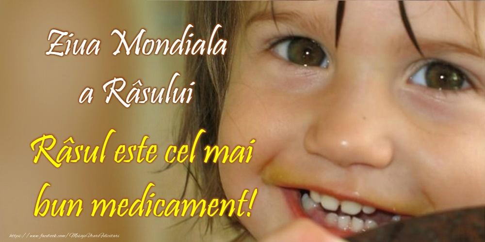 Felicitari de Ziua Râsului - Ziua Mondială a Râsului - mesajeurarifelicitari.com