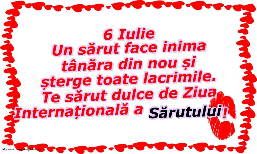 6 Iulie - Te sărut dulce de Ziua Internațională a Sărutului!