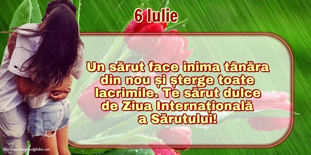Felicitari de Ziua Sarutului cu mesaje - 6 Iulie Te sărut dulce de Ziua Internațională a Sărutului!