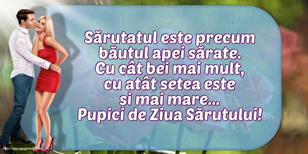 Felicitari de Ziua Sarutului cu mesaje - Pupici de Ziua Sărutului!