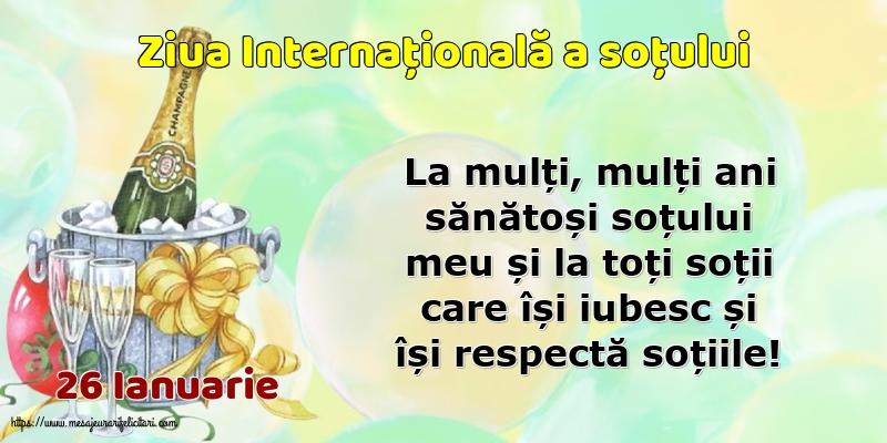 Ziua Sotului 26 Ianuarie - Ziua Internațională a soțului