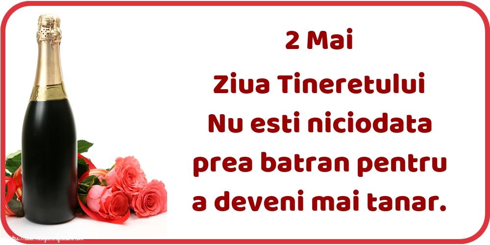 Ziua Tineretului 2 Mai Ziua Tineretului Nu esti niciodata prea batran pentru a deveni mai tanar.