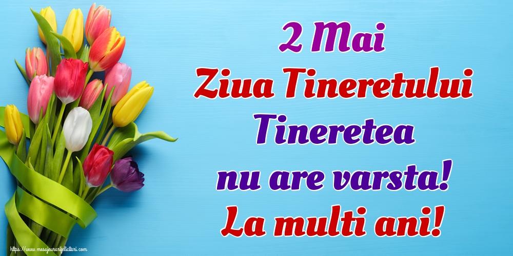 Ziua Tineretului 2 Mai Ziua Tineretului Tineretea nu are varsta! La multi ani!