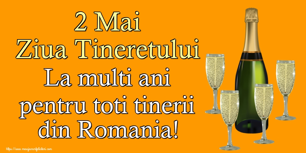 Ziua Tineretului 2 Mai Ziua Tineretului La multi ani pentru toti tinerii din Romania!