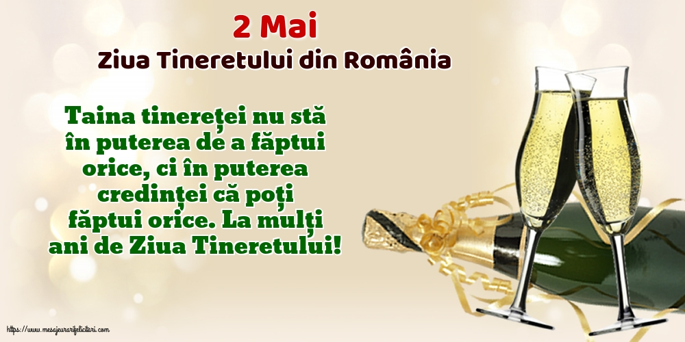 Felicitari de Ziua Tineretului - 2 Mai - Ziua Tineretului din România