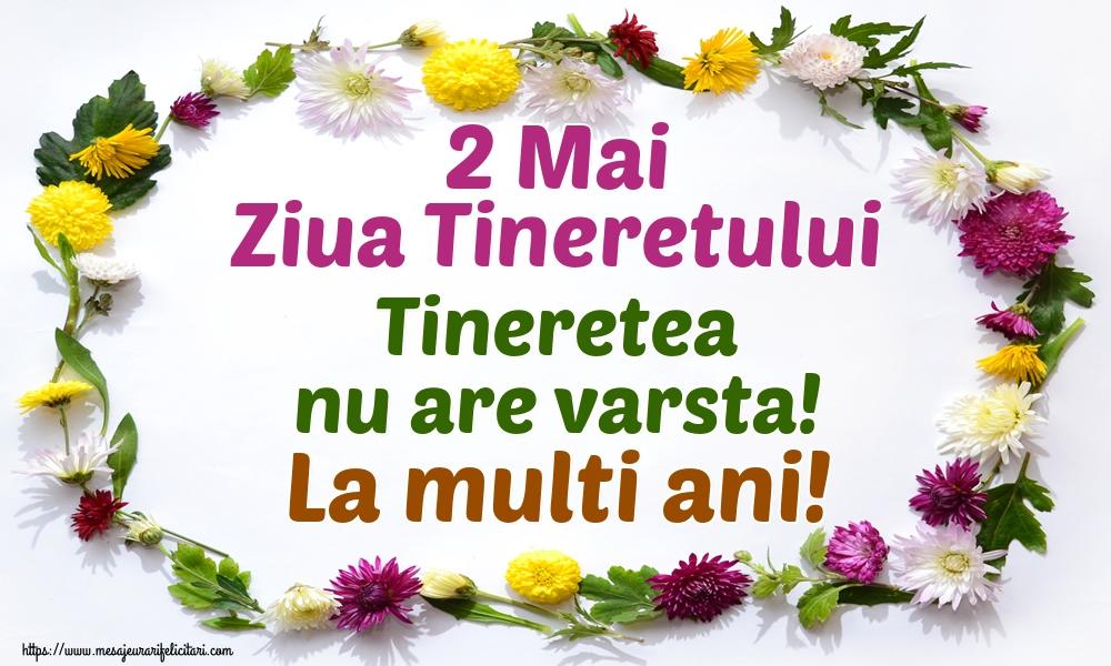 Felicitari de Ziua Tineretului - 2 Mai Ziua Tineretului Tineretea nu are varsta! La multi ani!