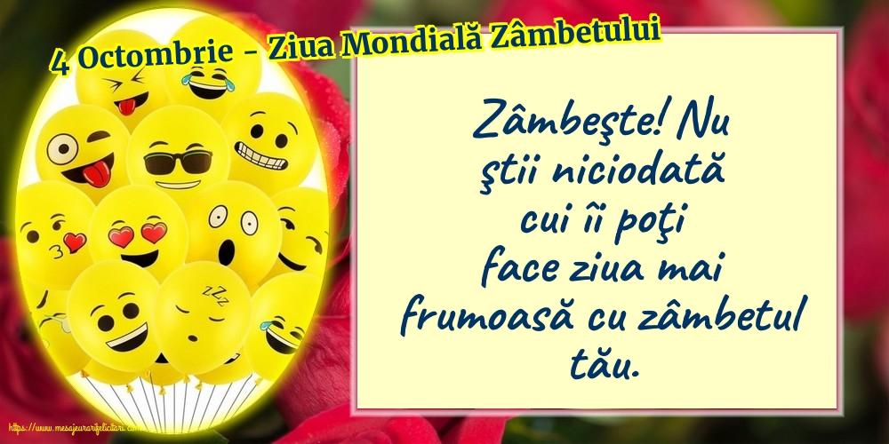 Ziua Zâmbetului 4 Octombrie - Ziua Mondială Zâmbetului