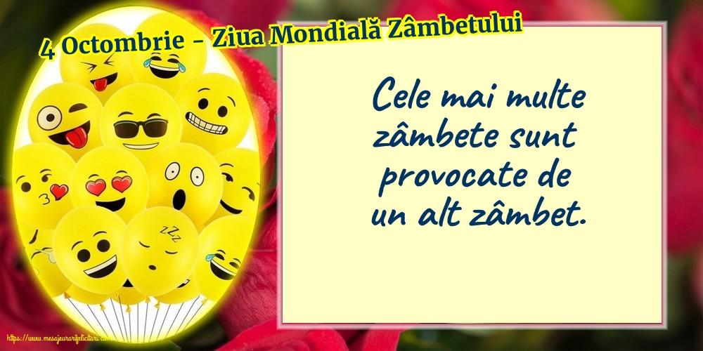 Felicitari de Ziua Zâmbetului - 4 Octombrie - Ziua Mondială Zâmbetului