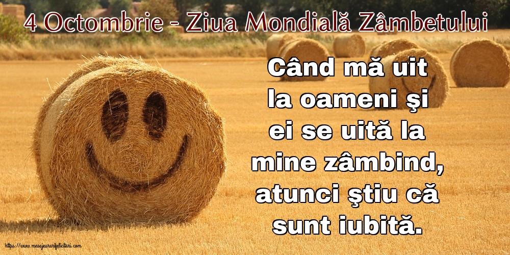 Felicitari de Ziua Zâmbetului cu mesaje - 4 Octombrie - Ziua Mondială Zâmbetului