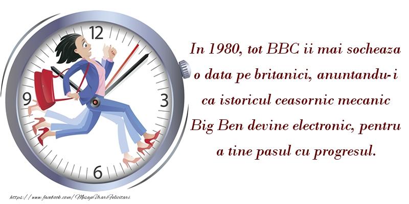 Istoricul ceasornic mecanic Big Ben devine electronic