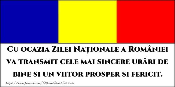 Mesaje de 1 Decembrie - Cu ocazia Zilei Naționale a României va transmit cele mai sincere urâri de bine - mesajeurarifelicitari.com