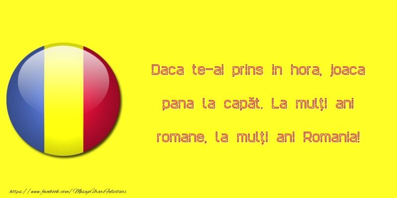 La mulți ani romane, la mulți ani Romania!