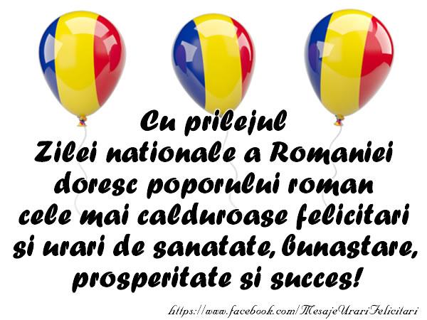 Felicitari poporului roman!