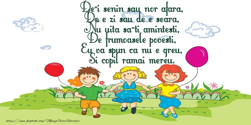 Poezie de Ziua copilului