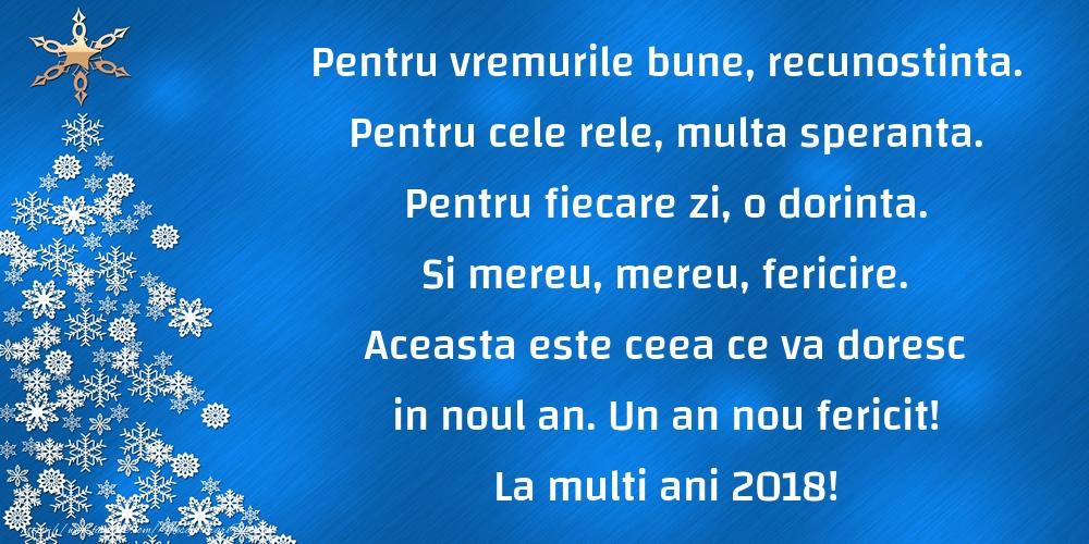 Un an nou fericit! La multi ani 2018!