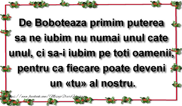 Mesaje de Boboteaza - De Boboteaza primim puterea sa ne iubim - mesajeurarifelicitari.com