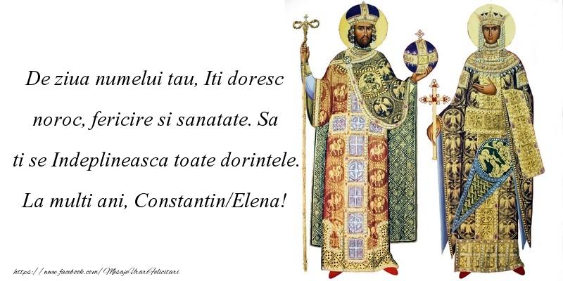La multi ani, Constantin/Elena!