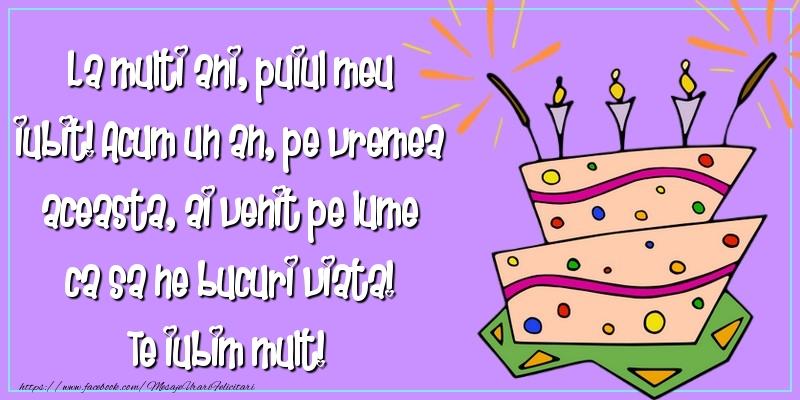 Mesaje pentru copii - La multi ani, puiul meu iubit! - mesajeurarifelicitari.com